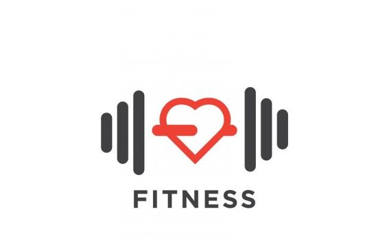 Simple fitness logo design template